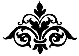 Clip Are Damask Design Clipart