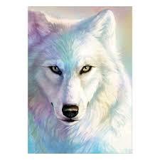 <b>White Wolf</b> King 5D <b>Diamond</b> Painting Embroidery <b>DIY</b> Cross Stitch ...