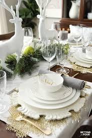 elegant table settings. Holiday Home Decor Idea: See This Design Blogger\u0027s Elegant HOLIDAY CHIC Table Setting Ideas And Settings I