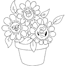 Spring Flower Coloring Pages Getcoloringpagescom