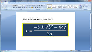 microsoft word tutorial how to create math equations in word 1 you