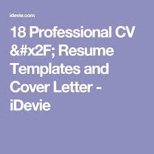 Convert Resume To Cv 100 best Cv template images on Pinterest Curriculum Resume and 36