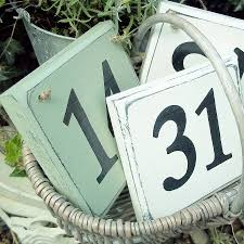 personalised house number sign sage green white white