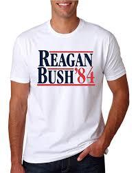 Campaign T Shirt Design Reagan Bush 1984 Shirt Republican Presidential Campaign T Shirts Funny Novelty Parody T Shirt T Shirt Design Basic Top Tee Mens Dress Shirt Patriotic