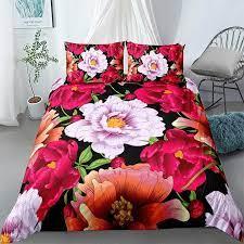 painted flower garden bedding set duvet