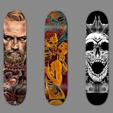 Skateboards Designs Design Badass Skateboard With Detailed Handrawn