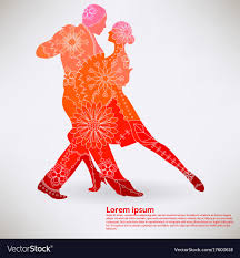 Tango Graphic Design Background With Oriental Tango Transition Colors