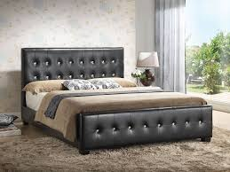 bed designs. Amazon.com: Black - Queen Size Modern Headboard Tufted Design Leather Look Upholstered Bed: Kitchen \u0026 Dining Bed Designs T
