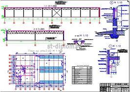 Дипломный проект ПГС Универсальное производственное здание 2 План здания разрезы узлы