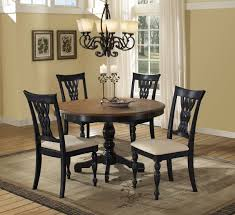 black dining room set round. Hillsdale Embassy Round Pedestal Dining Table - Rubbed Black \u0026 Cherry Room Set N