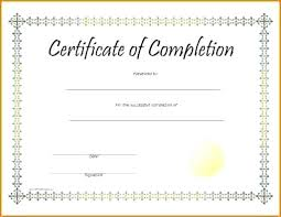Templates For Certificates Of Completion Blank Certificates Template Printable Certificates Completion