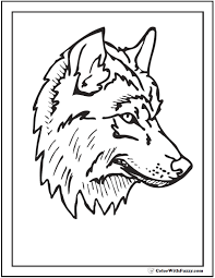 You have the choice ! Wolf Coloring Pages Print And Customize