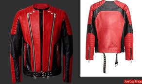 mens red black moto leather jacket 766655 zoom helmet