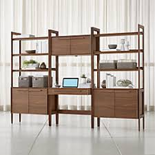 Home office pictures Ikea Office Bookcases Crate And Barrel Home Office Furniture Crate And Barrel