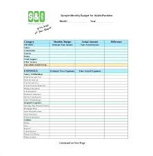 Sample Household Budget Fascinating Excel Household Budget Family Spreadsheet Free Simple Monthly
