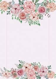 Free Floral Backgrounds Pink Floral Wedding Poster Background Material Pink Flowers Plant