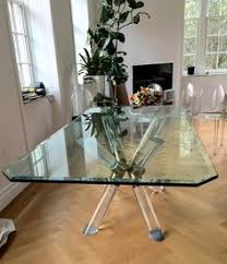 charles hollis jones post and truss dining table in br lucite