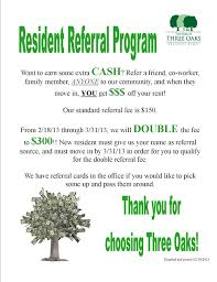Help I Need Some Resident Referral Flyer Ideas