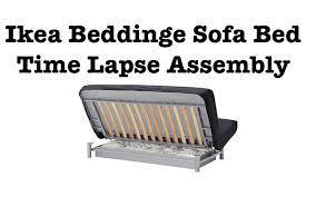 ikea sofa bed ikea sofa bed assembly time lapse