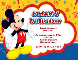 Mickey Mouse Bday Invites Yupar Magdalene Project Org