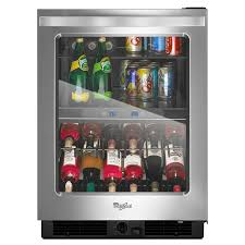 beverage refrigerator lowes. Unique Refrigerator Whirlpool 58cu Ft Monochromatic Stainless Steel BuiltInFreestanding Beverage  Center Throughout Refrigerator Lowes L