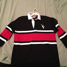 carleton university rugby shirt size xl red and black men s fashion clothes on carou