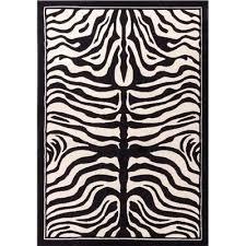 black and white zebra print rug zebra print black white indoor outdoor area rug