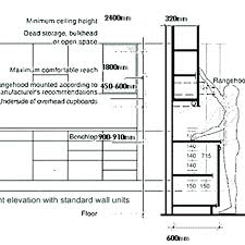 Kitchen Cabinet Height From Floor Kitchen Cabinet Measurements Stunning Kitchen Cabinet Height