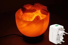 himalayan rock salt bowl lamp with adapter
