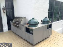 custom cabinets for big green egg cypress table mahogony table challenger designs spark cart challenger designs torch cart