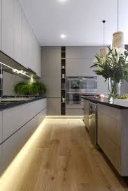 kitchen floor lighting. Love The Floor Lighting! Fenix Kitchen Bench L Pear Artwork Wooden Pendant Lights Under Cabinet LED Strip Lighting Open Plan C