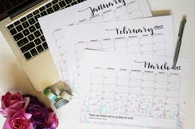 monthly planner free download free download 2017 weekly and monthly planner printables