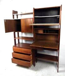 bookcase with fold down desk drop down wall desk luxury mid century wall unit with drop
