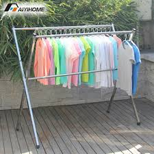 Outdoor clothes laundry hanger dryer,Heavy duty movable laundry  rack,Stainless steel no installation