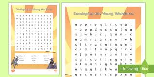 Developing The Young Workforce Cfe Second Level Word Search