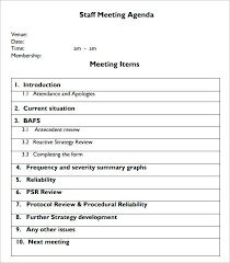 Example Of Agenda For A Meeting Unique Meeting Agenda Examples Templates Meetstanco