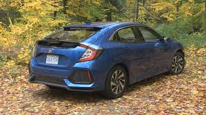 ... 2017 Honda Civic Hatchback LX Rear View, Canada  E