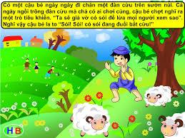 Truyện tranh cho bé Cậu bé chăn cừu - Hiền Bùi