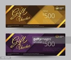Clipart Coupon Template Gift Voucher Card Template Coupon Stock Vectors Clipart Me
