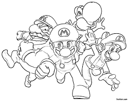 Small Picture Mario And Friends Coloring Pages Pictures Imagixs Bebo Pandco