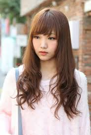 Asian Hair Style Women cute korean hairstyle for long hair 2366 by stevesalt.us