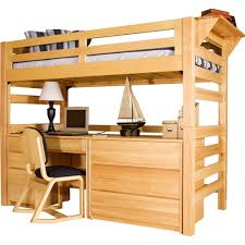 university loft graduate series twin xl open loft bed natural finish photo 1