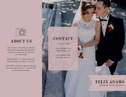 bridal shoot flyers customize 64 photography brochure templates online canva