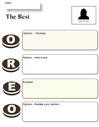 common core graphic organizer oreo opinion writing k  oreo opinion template pic