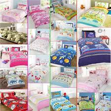 kids childrens boys girls single bed character duvet quilt cover for sets decor 18