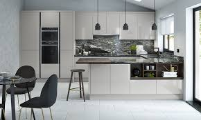 contemporary kitchens. Porter Silver Grey Contemporary Kitchens