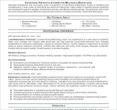 Maintenance Tech Resume Maintenance Technician Resume Examples Trezvost
