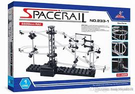space rail model building kit level 2 steel marble roller coaster spacewarp diy spacerail erector set 233 1 233 2 toys for kids space rail spacerail