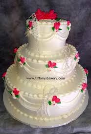Summer Love Classic Wedding Cake Tiffanys Bakery