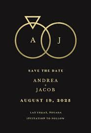 How To Make A Save The Date Card Connected Rings Save The Date Card Template Free